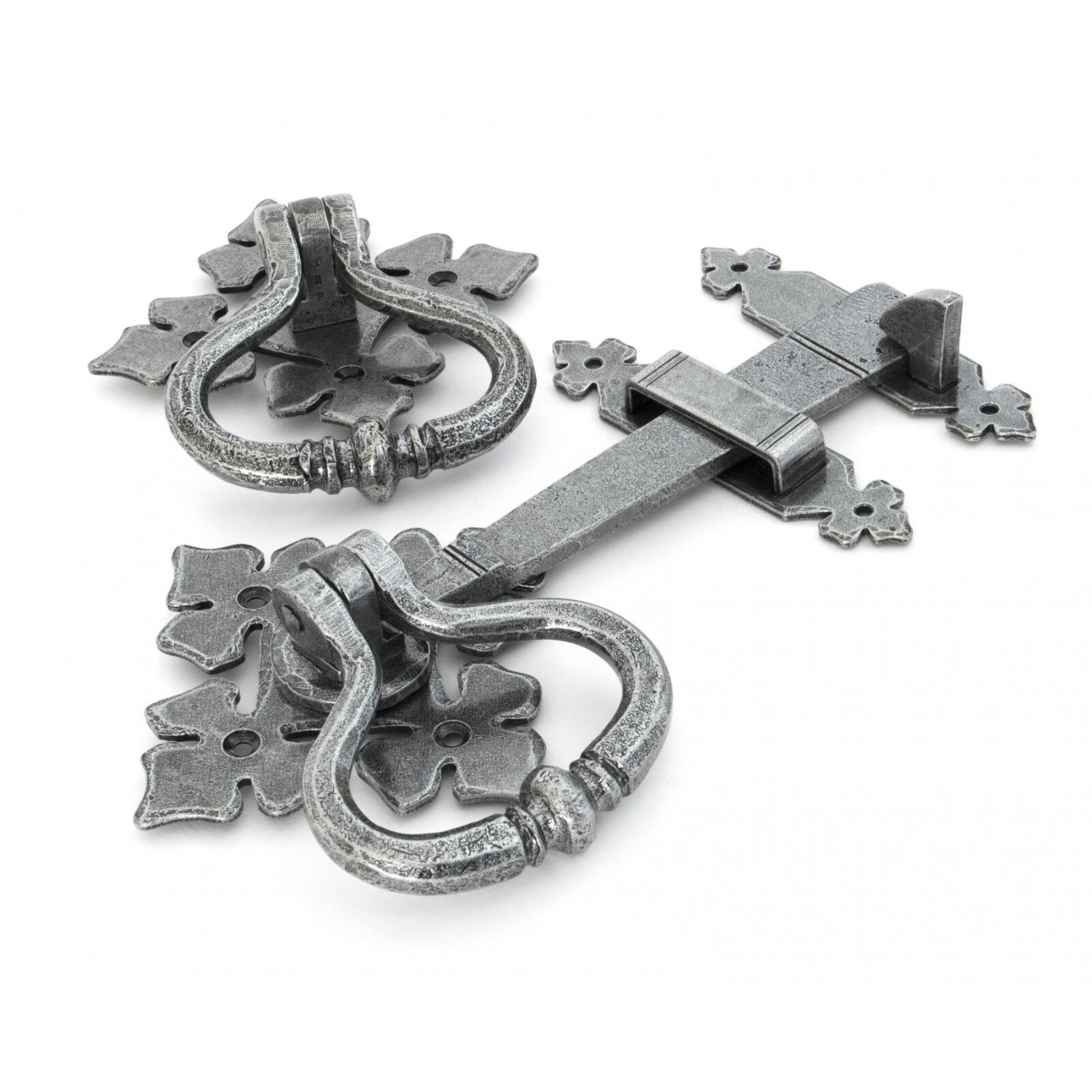 FROM THE ANVIL SHAKESPEARE LATCH SET - PEWTER 33685
