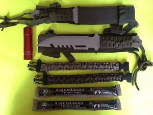emergency survival gear kit knives paracord light doomsday prepper hunting emp ebay. Black Bedroom Furniture Sets. Home Design Ideas