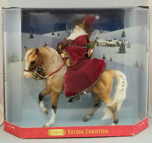 Breyer-700404-Father-Christmas-and-Glittery-Holiday-Horse-with-Santa-NIB