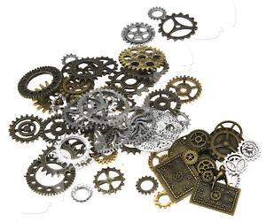 100g-Steampunk-Jewellery-Watch-Parts-Altered-Art-Crafts-Cyberpunk-Cogs-Gears