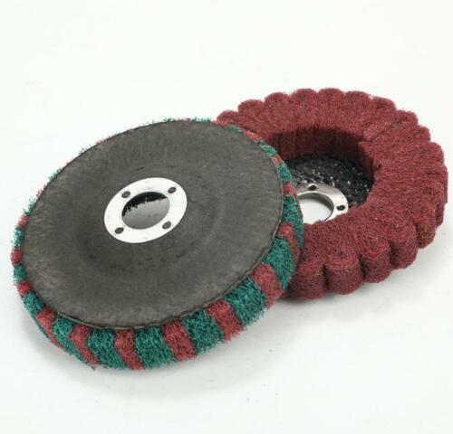 "100mm 4/"" Nylon Fiber Flap Polishing Wheel Pads Buffing Disc for Angle Grinder"