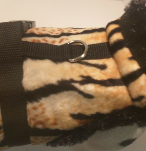 Manteau d'hiver, harnais pour chien Harnais léopard brun noir Peluche chiens Xs S M