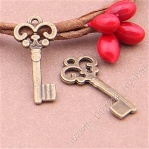 50pc colgantes pequeños encanto Antiqued Clave Colgante Accesorios Fabricación de Joyas V273