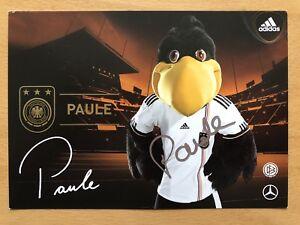 Mascota-Paule-1-Ak-DFB-2010-Tarjeta-Autografiada-Original-Firmado-2on1