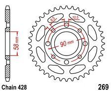 KR Kettenrad 35Z Teilung 428 HONDA CM 200 T 80-84 NEU ... Rear sprocket