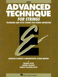 Advanced Technique For Strings Essential Elements Series Cello Book 000868036 Surface LustréE