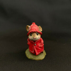 """Wee Forest Folk """"April Showers"""" Red Coat Retired 1991"""