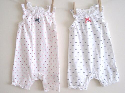 6-9 mois magnifique New Baby Girls Summer Bow cœur Combi Tiny Baby