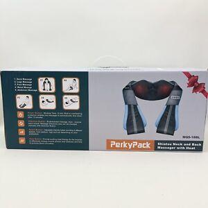Shiatsu Back Neck Massager with Heat- PerkyPack Deep Tissue Kneading Massager