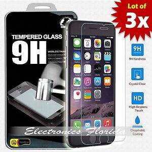 3X-for-iPhone-8-Plus-4-5-6-X-Tempered-Glass-Screen-Protector-A-Quality-D12