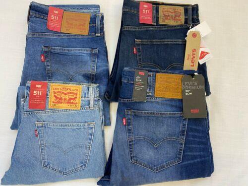 28, 30, 32, 34, 36 Sizes W Levi's Original Genuine Brand New 511 Jeans L32,34