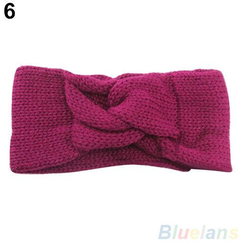Fashion Knitted Turban Twisted Knotted Hair Band Ear Warmer Head Wrap Headband