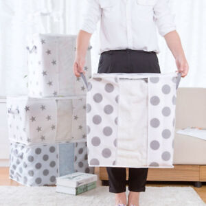 S-L-Size-Foldable-Storage-Bag-Clothes-Blanket-Quilt-Closet-Sweater-Organizer-Box