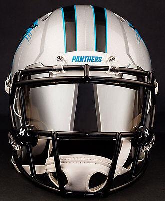 Carolina Panthers Nfl Football Helmet With Chrome Mirror Visor Eye Shield Ebay