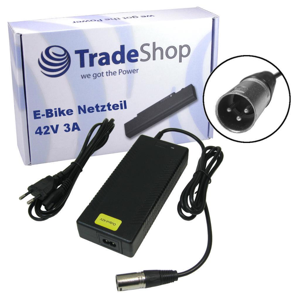 Alimentatore caricabatterie cavo di ricarica 42v 3a per 36v Elettrico Bicicletta Scooter 3pin XLR