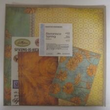 NIP Creative Memories Reminisce SPRING Additions 12x12 Paper Stickers Mats NEW