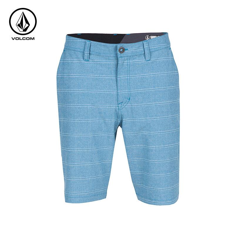 NEW VOLCOM SURF & TURF bluee stripe board shorts V4S hybrid  30 32 34 38