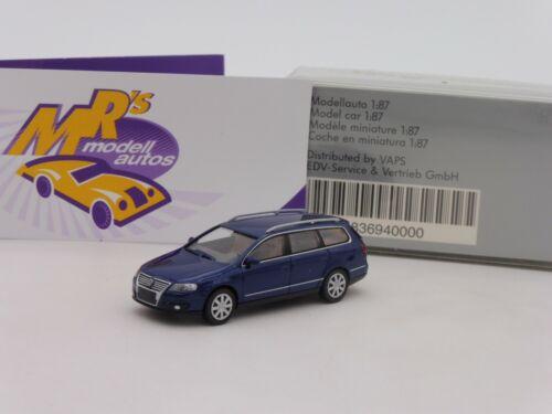 "Wiking Werbemodell # VW Volkswagen Passat Variant B6 /"" dkl.blaumetallic /"" 1:87"