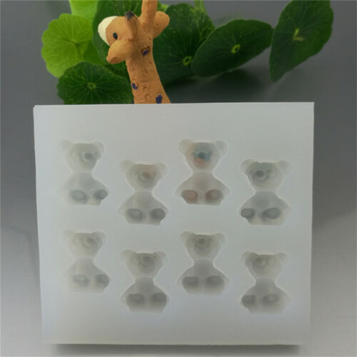 8 Bär Epoxy-Silikon-Form transluzente Oberfläche Mold Anhänger mit Werkzeug set#