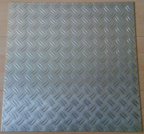 Aluminiumblech Aluplatte Platte Aluminium Riffelblech 495x495x2mm m2// 40,77€
