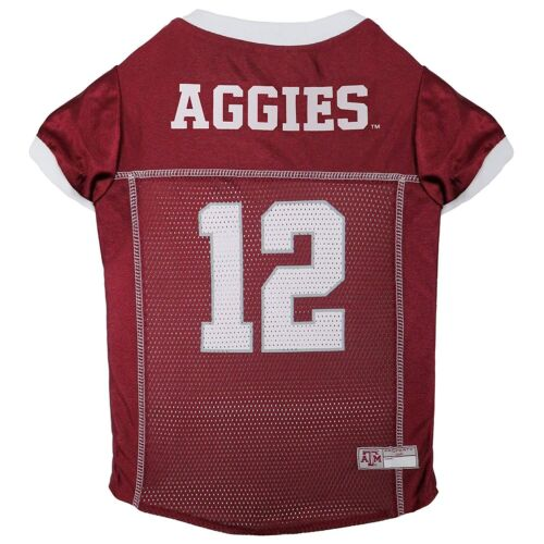 Texas A /& M Aggies #12 NCAA Pets First Licensed Dog Pet Mesh Jersey XS-2XL NWT