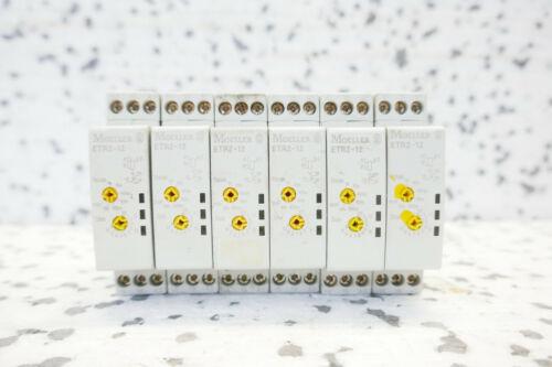set of 6 ZEITRELAIS 6x MOELLER ETR2-12 1s-100h