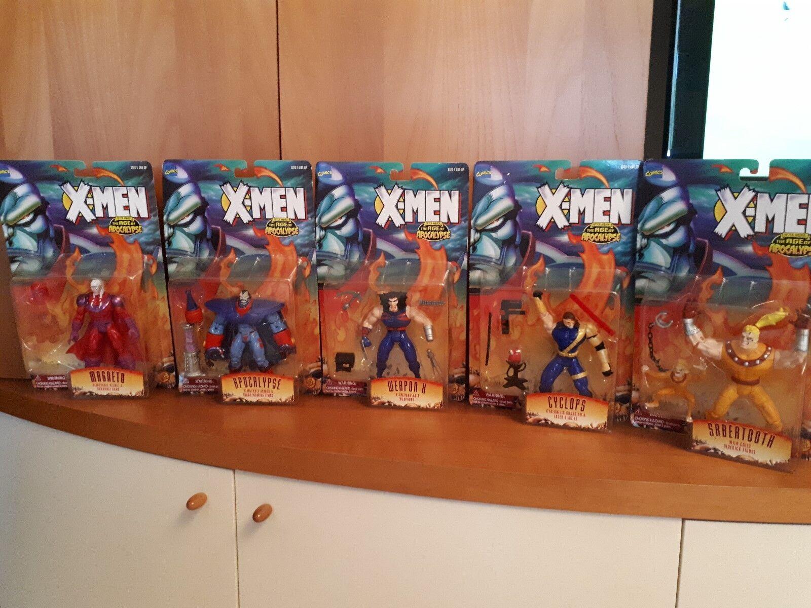 Complete Lot of 5 Marvel X-men Age of Apocalypse Juguetebiz year 1995