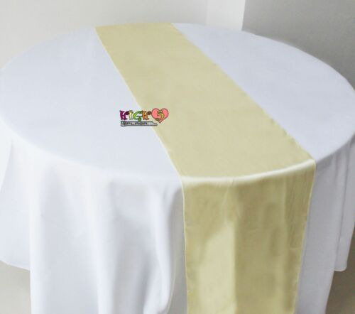 Bulk Hessian Satin Table Runners Chair Sashes Cloth Party Wedding Decoration au