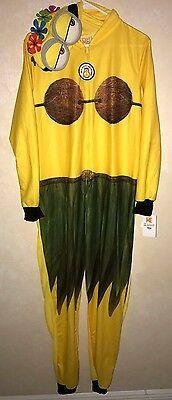 womens NEW NWT MINION DISNEY BLANKET SLEEPER 1 PC pajama HULA HOOD PLUS 2X 18//20