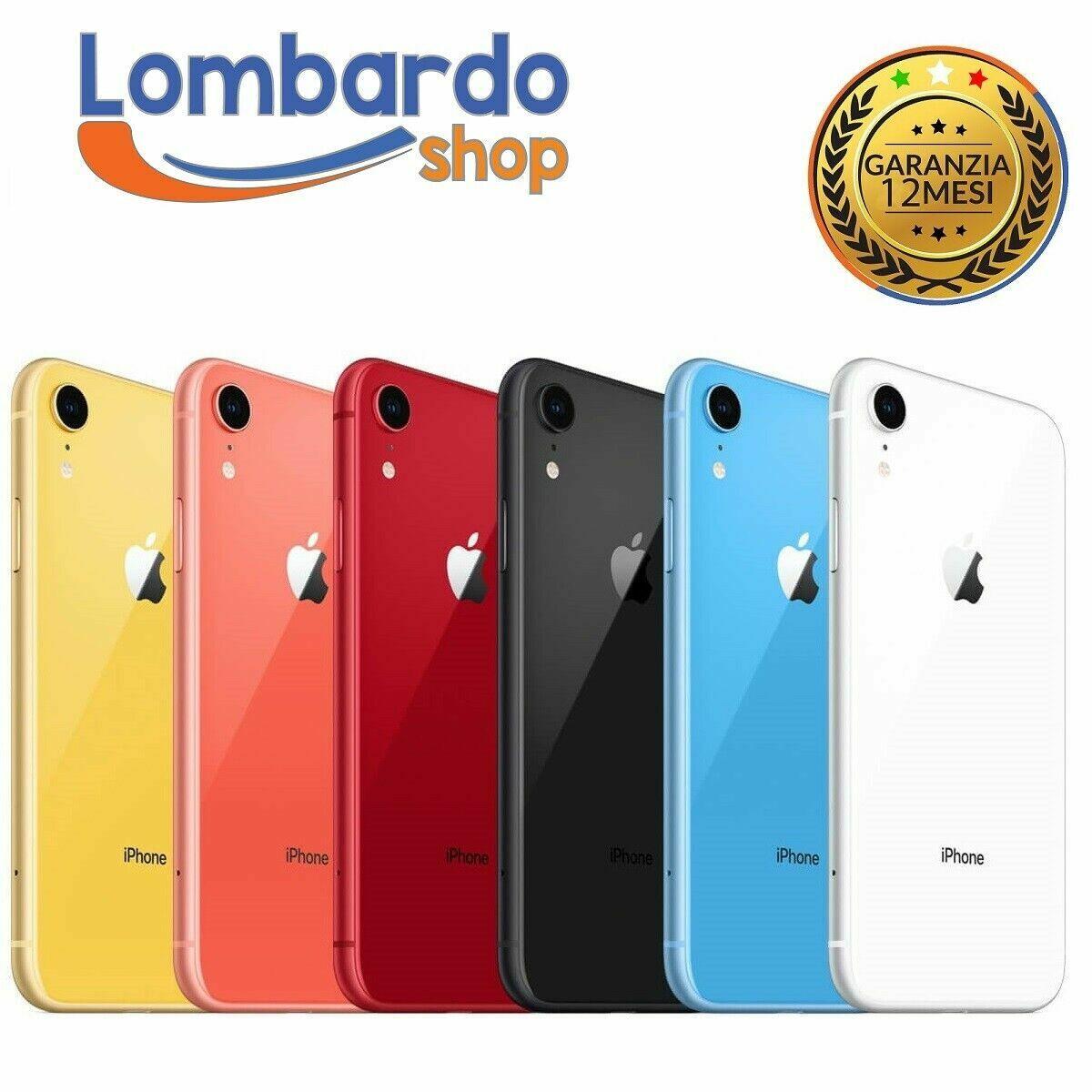 iPhone: IPHONE XR RICONDIZIONATO 64GB GRADO C BIANCO NERO RED APPLE RIGENERATO ORIGINALE