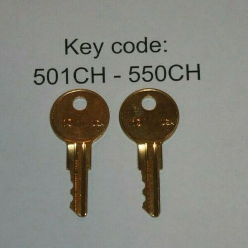 2 replacement keys UWS  Toolbox Code Cut 501CH to 550CH Truck Tool Box Lock Key