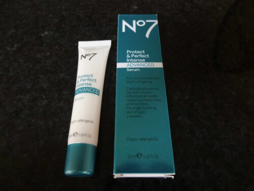 1 of 1 - BOOTS No7 PROTECT AND & PERFECT INTENSE ADVANCED SERUM 30ml  GENUINE BOOTS No7