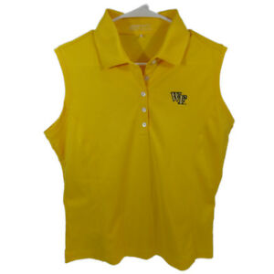 94442ad2dc Details about Nike Golf Women's Tech Pique Sleeveless Polo NCAA wake forest  logo Large 256845