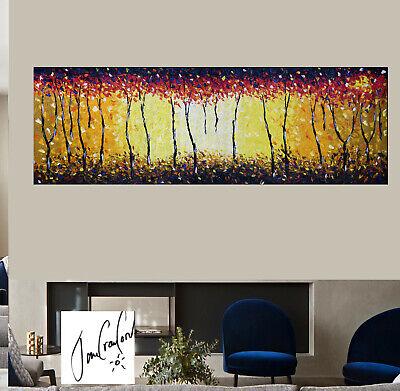 huge Urban original Art Painting canvas Bush fire dream  by jane  Australia