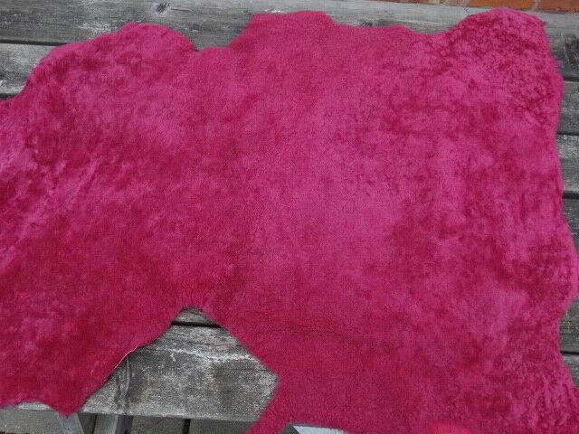 Fuchsia Sheepskin  - Craft Design Hobby schuhe Stiefel belts bags  118