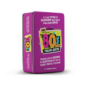 New High Quality The 80's Fun Trivia Game in Tin Suitable for Ages 12 and Up