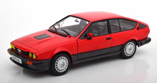 1//18 Scale Alfa Romeo GTV 6 1984 Red  S1802301 By SOLIDO
