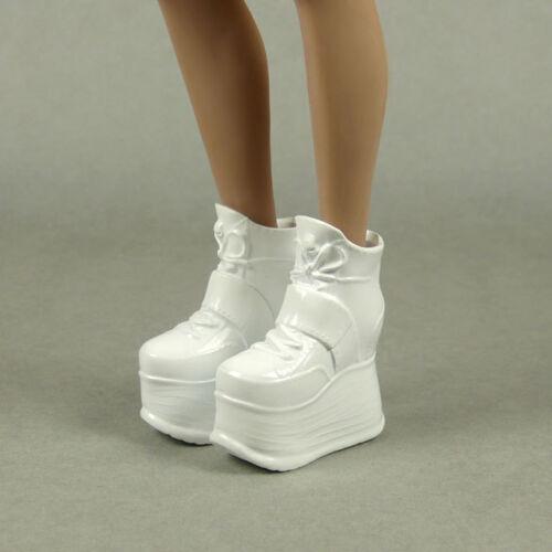 Kumik TBLeague 1//6 Phicen Female Glossy White High Platform Wedge Boots