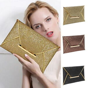 Women-039-s-Evening-Clutch-Bag-Glitter-Wedding-Party-Envelope-Clutch-Prom-Handbag