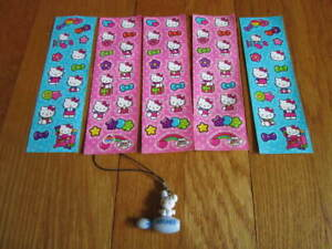 Hello-Kitty-Sanrio-Round-1-Bowling-Pin-Charm-Bunny-amp-73-Stickers-Collectibles
