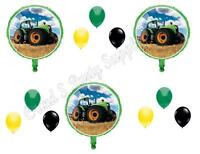 Green Tractor Time 12 Pc Happy Birthday Party Balloons Decoration Supplies Farm