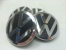RANGE Rover Sport Vogue VW T5 LEGA RUOTA NERO Chrome Badge CENTRE CAPS