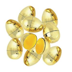 Dozen Plastic Metallic Golden Eggs. Fe. HUGE Saving