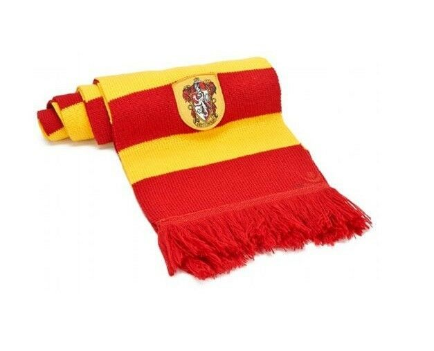 6231a9f0ade Harry Potter Scarf Gryffindor Yellow and Red Hermione Embroidered Badge  560592