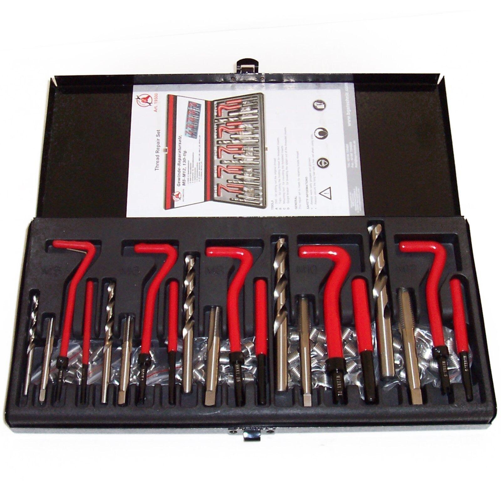 Gewinde - Reparatur- Satz 130-tlg. M5-M12 Werkzeugset Gewindereparatur