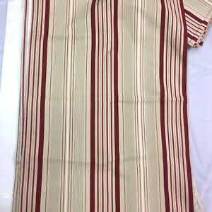 1-Pair-STRIPED-Fully-Lined-Curtains-80X82-Beige-Red-S-LICHTENBERG-amp-CO-INC