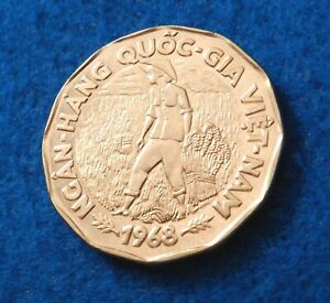 1968-Vietnam-20-Dong-Farmer-in-Rice-Paddy-Beautiful-Coin-See-PICS