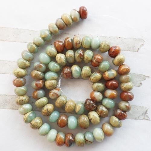 8x5mm hermosa mezcla de piedras preciosas Rondelle suelto bolas de 15,5 pulgadas xj-219 Al Por Mayor