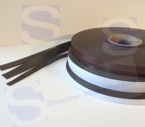 selbstklebend Meterware Magnetband 1,5mm x 25,4mm x 1m roh Typ B