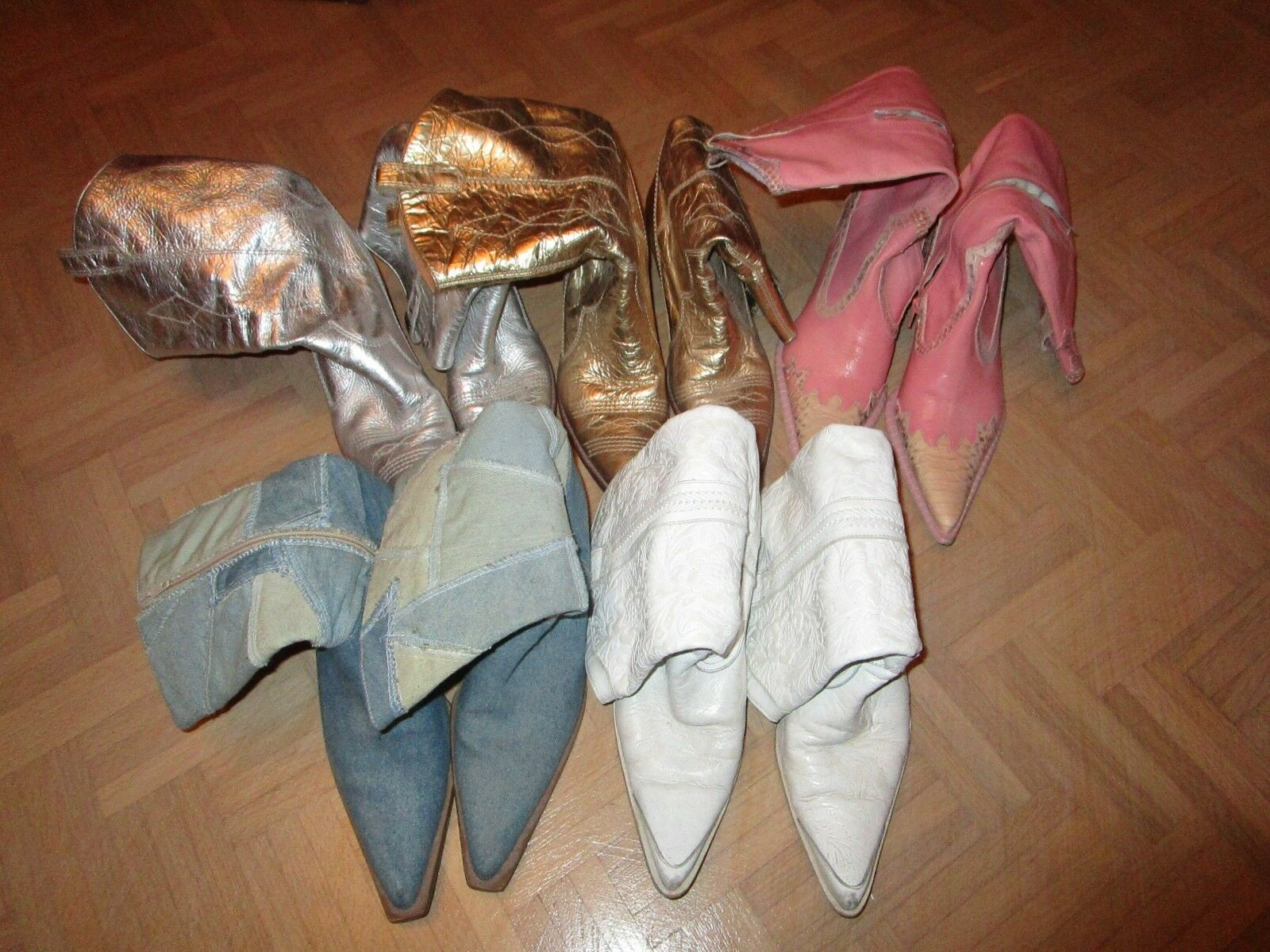 Cowboystiefel Stiefel Western Buffalo Buffalo Buffalo weiß Rosa Rosa Jeans Gold silber 41   35fbcb